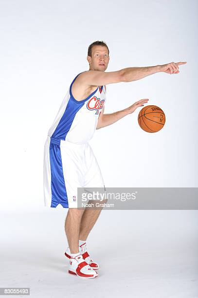 Steve Novak of the Los Angeles Clippers poses for a portrait during NBA Media Day on September 29 2008 at the Clippers Training Facility in Playa...