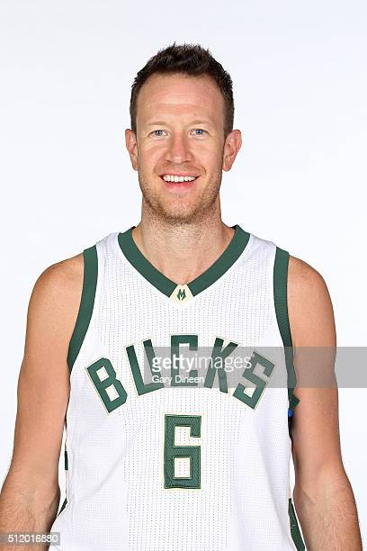 Steve Novak of the Milwaukee Bucks poses for a head shot at the Orthopaedic Hospital of Wisconsin Training Center on February 23 2016 in St Francis...