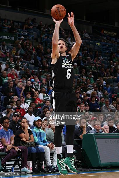 Steve Novak of the Milwaukee Bucks shoots the ball during an open practice and fan fest on October 2 2016 at the BMO Harris Bradley Center in...