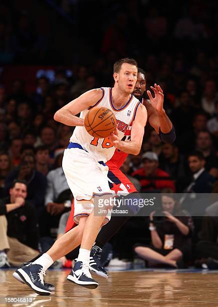 Steve Novak of the New York Knicks in action against the Washington Wizards at Madison Square Garden on November 30 2012 in New York City The Knicks...