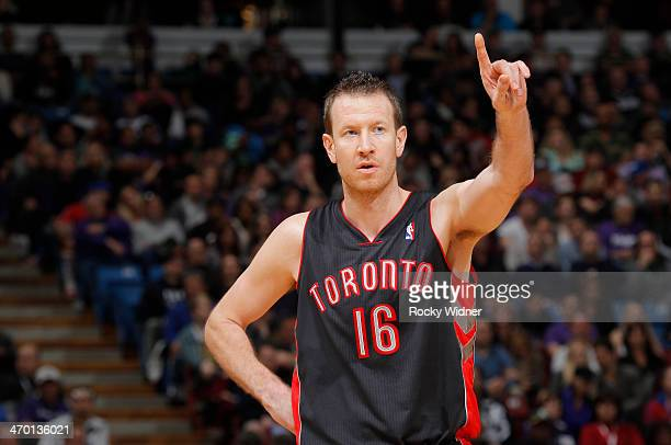 Steve Novak of the Toronto Raptors in a game against the Sacramento Kings on February 5 2014 at Sleep Train Arena in Sacramento California NOTE TO...