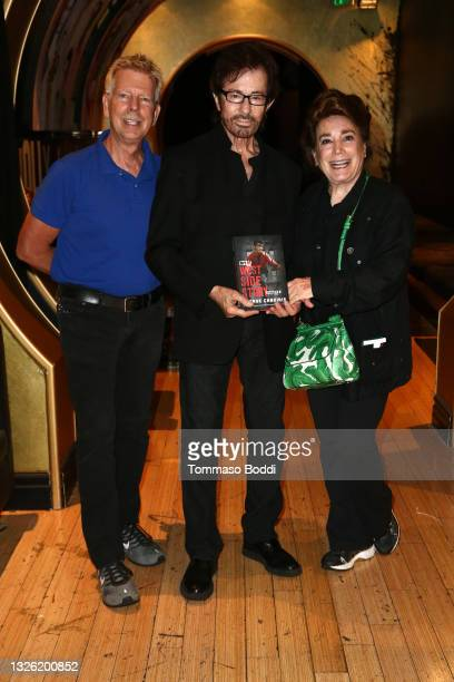 Steve Nycklemoe, George Chakiris and Donelle Dadigan attend the Golden Globe and Academy Award winner George Chakiris signs and discusses his new...