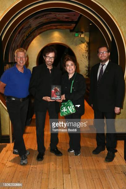 Steve Nycklemoe, George Chakiris, Donelle Dadigan and Levi Tinker attend the Golden Globe and Academy Award winner George Chakiris signs and...