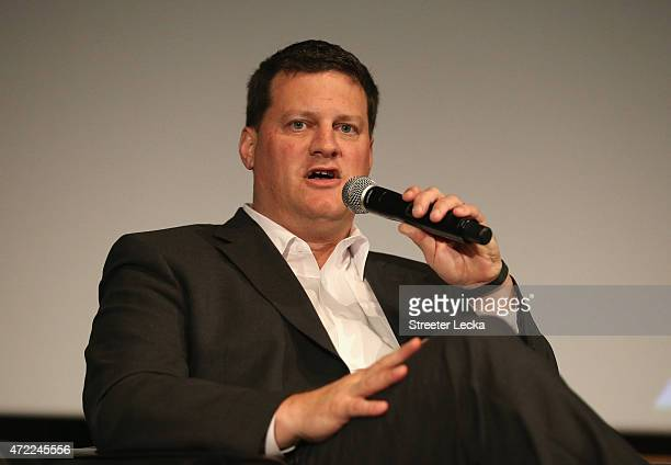 Steve O'Donnell NASCAR Executive Vice President and Chief Racing Development Officer speaks during the 20152016 NASCAR Next Class at NASCAR Hall of...