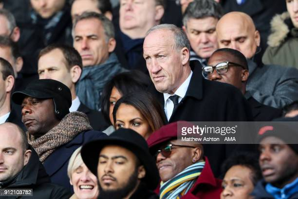 Steve Ogrizovic former Coventry City goalkeeper looks on during the Cyrille Regis Memorial Service at The Hawthorns on January 30 2018 in West...