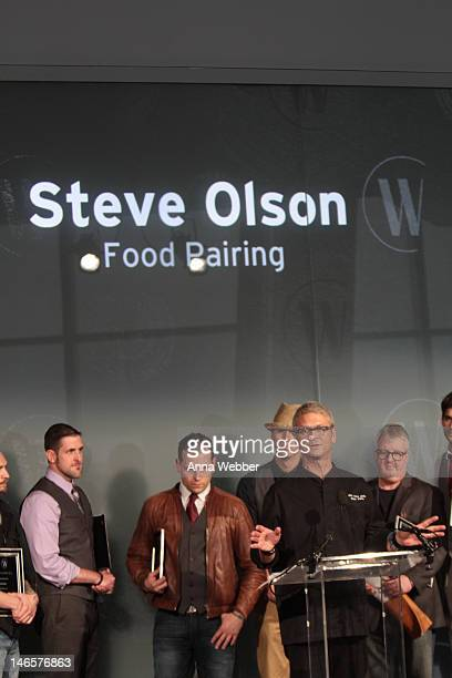 Steve Olson speaks during the United States Bartenders' Guild And Diageo World Class Present The US World Class Finale at IAC Building on June 19...