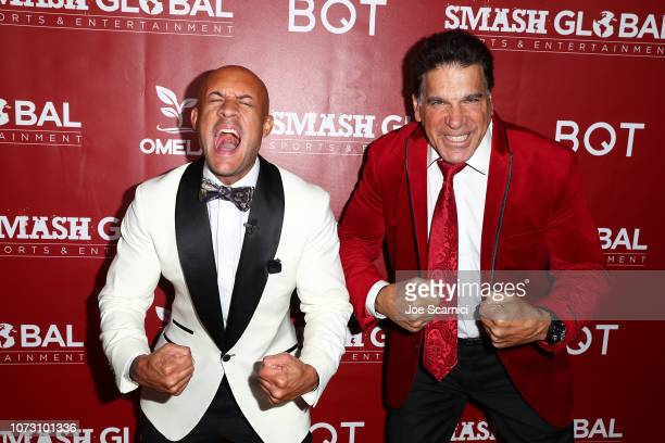 Steve Orosco and Lou Ferrigno attend SMASH Global VIII ñ Night Of Champions at Taglyan Cultural Complex on December 13, 2018 in Hollywood, California.