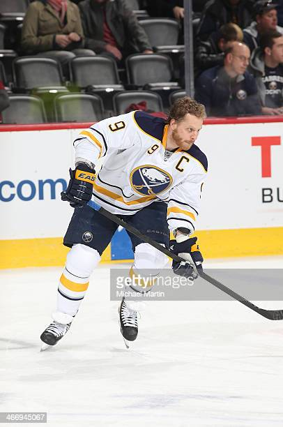 Steve Ott of the Buffalo Sabres skates prior to the game against the Colorado Avalanche at the Pepsi Center on February 1 2014 in Denver Colorado