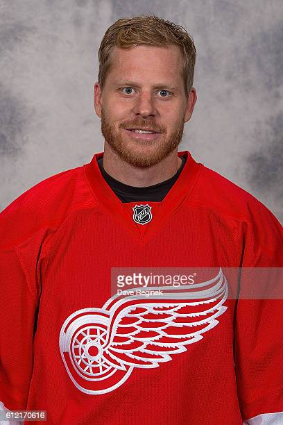 Steve Ott of the Detroit Red Wings has his official NHL head shot taken at Centre Ice Arena on September 22 2016 in Traverse City Michigan