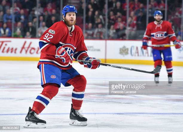 Steve Ott of the Montreal Canadiens skates against the Dallas Stars in the NHL game at the Bell Centre on March 28, 2017 in Montreal, Quebec, Canada.