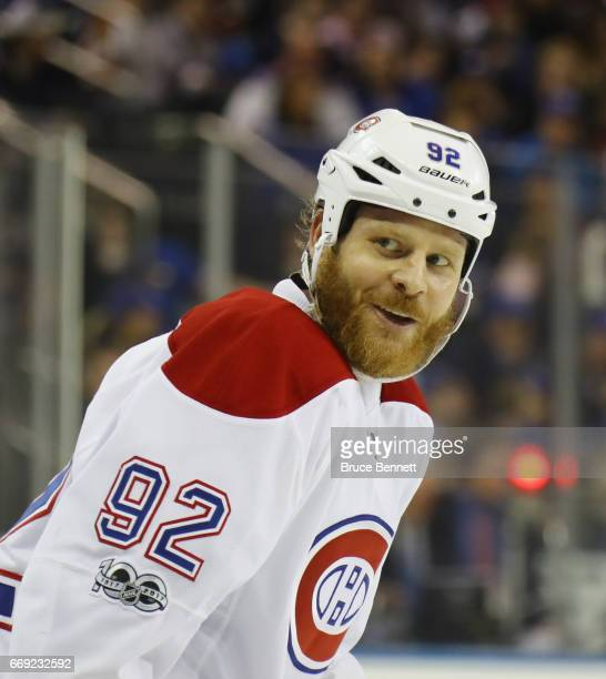 Steve Ott of the Montreal Canadiens skates against the New York Rangers in Game Three of the Eastern Conference First Round during the 2017 NHL...