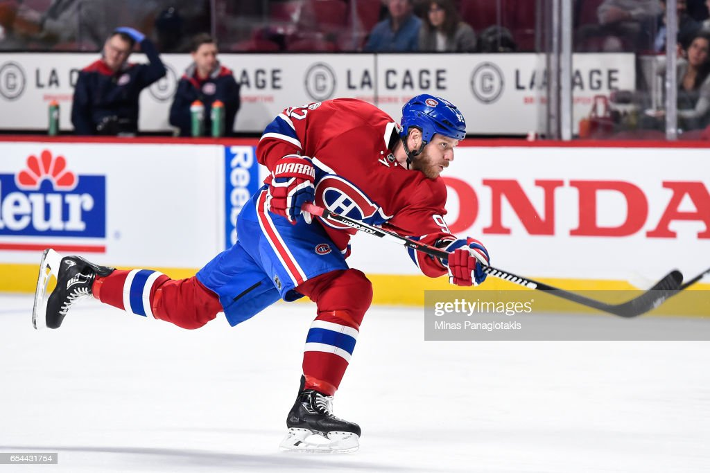huge discount ceb96 1c636 Steve Ott of the Montreal Canadiens takes a shot during the ...
