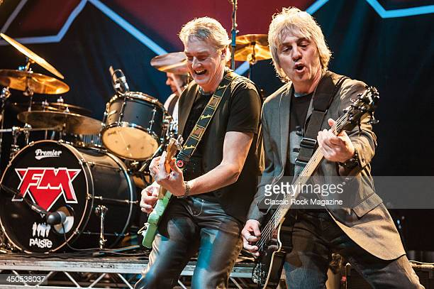 Steve Overland and Merv Goldsworthy of British rock group FM performing live on stage at the Hard Rock Hell AOR/Prog festival in Rotherham on April 6...