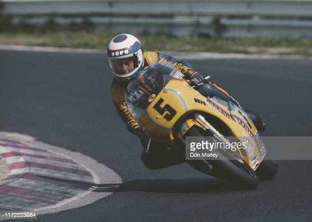 Steve Parrish of Great Britain rides the Suzuki 500cc motorcycle during the German motorcycle Grand Prix on 20 August 1978 at the Nurburgring circuit...