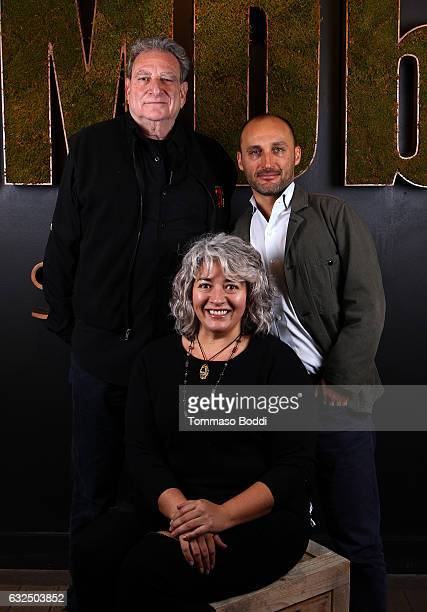 Steve Parrish Trixie Garcia and director Amir BarLev of Long Strange Trip attend The IMDb Studio featuring the Filmmaker Discovery Lounge presented...