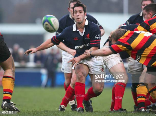Steve Pearce of London Scottish in action during the match against Richmond held at the Athletic Ground in London on the 11th December 2004