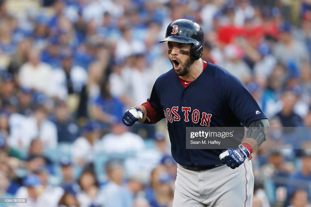 2551a826e World Series - Boston Red Sox v Los Angeles Dodgers - Game Five : News Photo