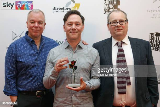 Steve Pemberton Reece Shearsmith and Adam Tandy attend The South Bank Sky Arts Awards 2018 at The Savoy Hotel on July 1 2018 in London England