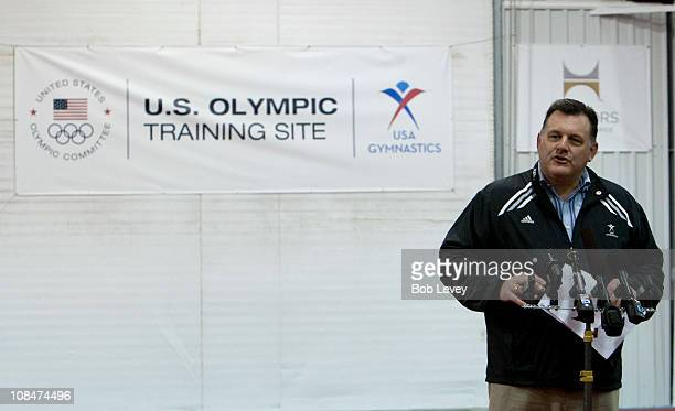 Steve Penny President ofUSA Gymnastics welcomes guests and media and to announce the USOC designation of the USA Gymnastics National Training Center...