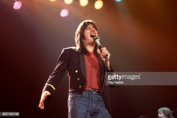 Steve Perry of Journey performing at the Rosemont Horizon in Rosemont Illinois May 21 1982