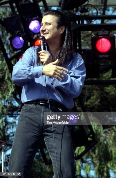 Steve Perry of Journey performs during the Laughter, Love & Music concert dedicated to rock promoter Bill Graham at the Polo Fields in Golden Gate...