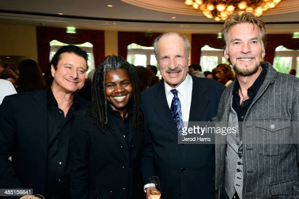 Steve Perry, Tracy Chapman, Beverly Hills Bar Association Entertainment Lawyer of the year L. Lee Phillps and Kenny Loggins attend the Beverly Hills...
