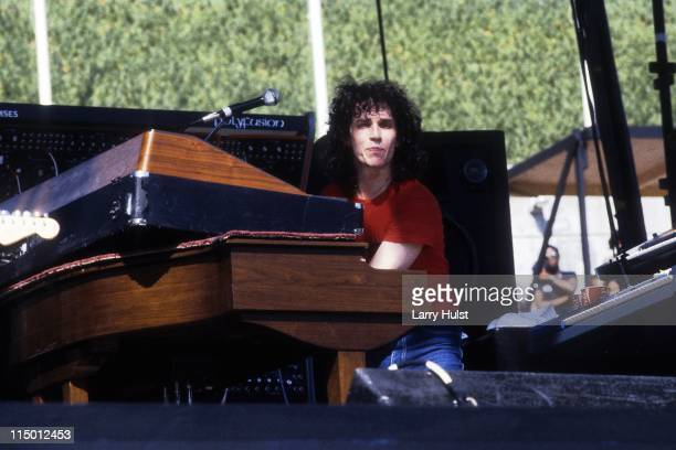 Steve Porcaro performing with 'Toto' at the Los Angeles Coliseum in Los Angeles California on April 9 1979