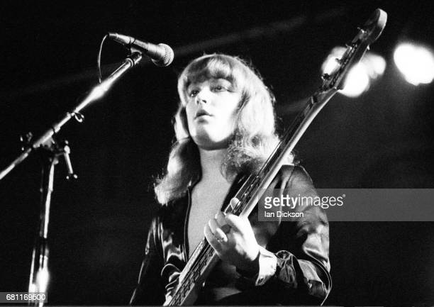 Steve Priest of The Sweet performing on stage at The Pavilion Hemel Hempstead United Kingdom 20 July 1973