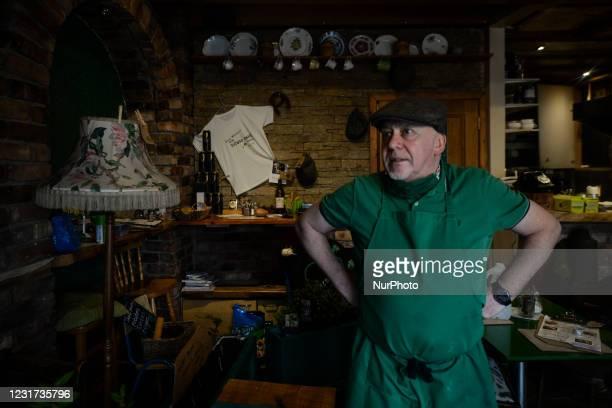 Steve Quilligan seen inside his Irish Potato Cake Company restaurant in Dublin's city center. On Monday, 15 March 2021, in Dublin, Ireland.