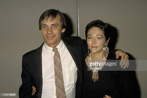 Steve Railsback and Olivia Hussey during Premiere of 'Distortions' at Academy Theater in Beverly Hills California United States