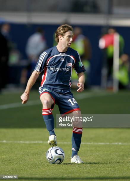 Steve Ralston of the New England Revolution during the MLS Cup match against the Houston Dynamo at Pizza Hut Park in Frisco Texas on November 12 2006