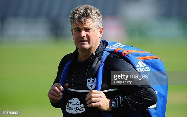 Steve Rhodes Director of Cricket of Worcestershire during Day One of the Specsavers County Championship Division Two match between Gloucestershire...