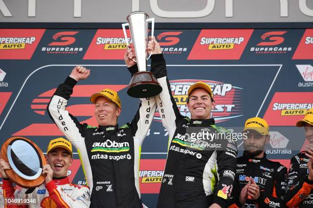 Steve Richards driver of the Autobarn Lowndes Racing Holden Commodore ZB and Craig Lowndes driver of the Autobarn Lowndes Racing Holden Commodore ZB...