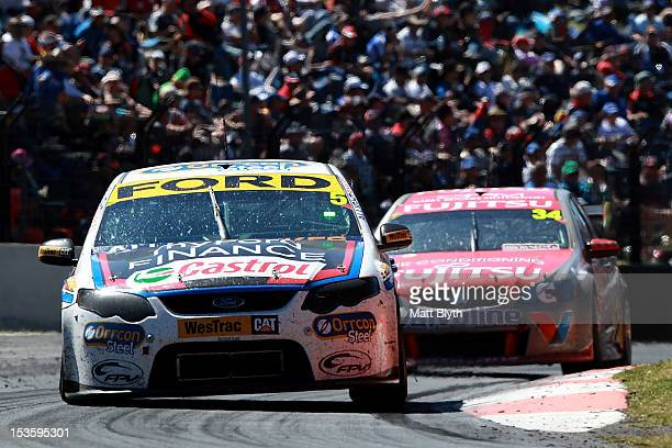 Steve Richards drives the Orrcon Steel FPR Ford during the Bathurst 1000 which is round 11 of the V8 Supercars Championship Series at Mount Panorama...