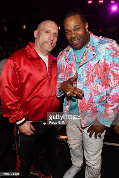Steve Rifkind and Busta Rhymes attend the BET Hip Hop Awards 2017 at The Fillmore Miami Beach at the Jackie Gleason Theater on October 6 2017 in...