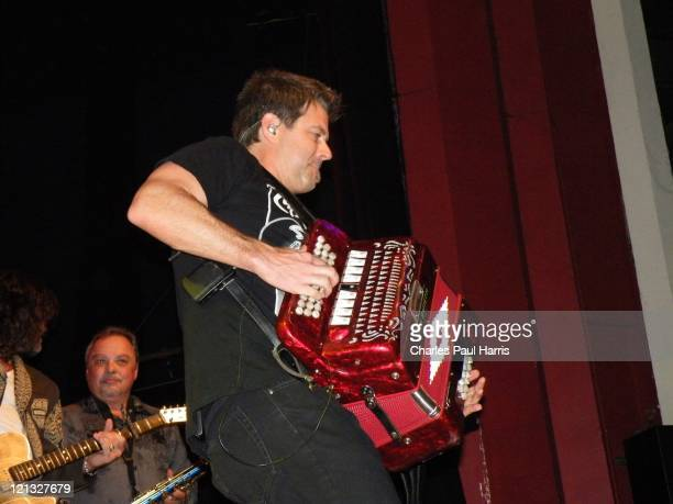 Steve Riley of the Lil' Band O' Gold, appears at the O2 Shepherd's Bush Empire on June 14 2011 in London, England.