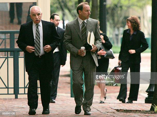 Steve Rosen former Policy Director for the American Israel Public Affairs Committee arrives at Federal Court with his attorney Abbe Lowell August 16...
