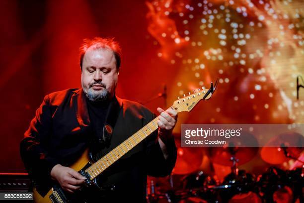 Steve Rothery of Marillion performs on stage at The Royal Albert Hall on 13 October 2017 in London England