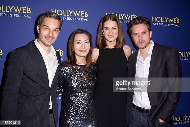 Steve Rousseau Jen Drohan Charli Schuler Rousseau and John Highsmith attend the 2nd annual HollyWeb Festival at Avalon on April 7 2013 in Hollywood...