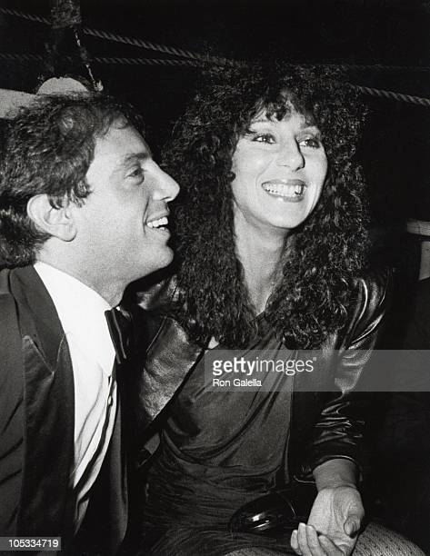 Steve Rubell and Cher during 'Opium' Perfume Launch After Party at Studio 54 at Studio 54 in New York City New York United States
