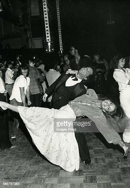 Steve Rubell and Debbie Dickinson at Studio 54 circa 1977 in New York City