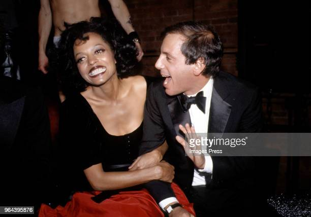 Steve Rubell and Diana Ross attend the Studio 54 New Year's Eve party in New York on December 311978