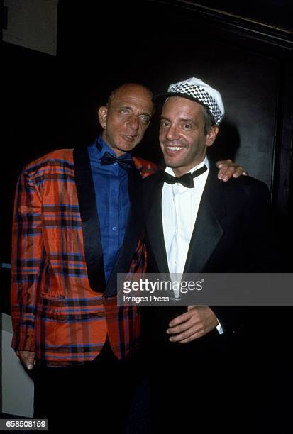 Steve Rubell and his lawyer Roy Cohn circa 1985 in New York City