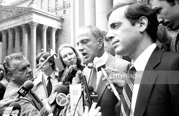 Steve Rubell and Roy Cohn taking to the Press on December 3, 1979 in New York, New York.