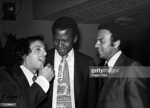 Steve Rubell and Sidney Poitier supporting Andrew Young at his fundraiser circa 1977 in New York City
