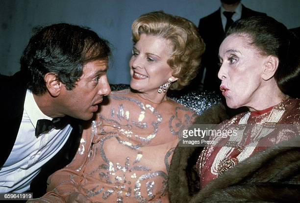 Steve Rubell chats with Betty Ford and Martha Graham at Studio 54 circa 1979 in New York City