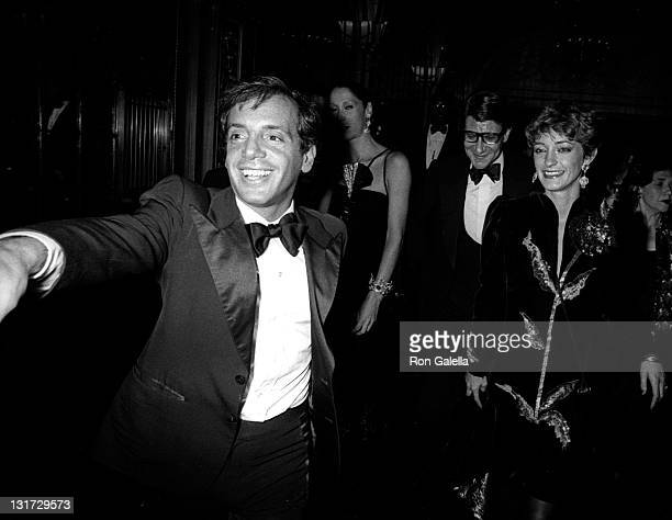 Steve Rubell Marina Schiano Yves Saint Laurent and Loulou de la Falaise attend the party for Opium Perfume Launch on September 20 1978 at Studio 54...