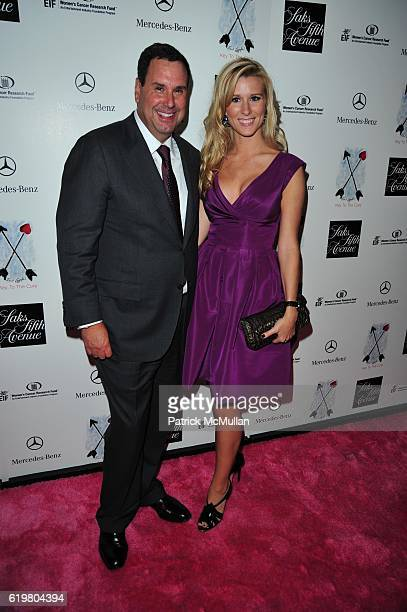 Steve Sadove and Abby Manning attend Saks Fifth Avenue's KEY TO THE CURE Launch Party Benefiting EIF's Women's Cancer Research Fund at Top Of The...
