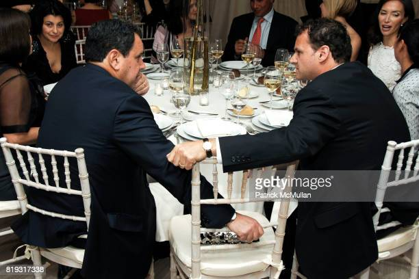 Steve Sadove and Jon Kahn attend SAKS FIFTH AVENUE VALENTINO Host a Dinner to benefit SAVE VENICE at Saks Fifth Avenue on April 14 2010 in New York...