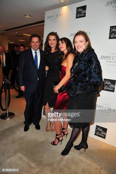 Steve Sadove Brooke Shields Tamara Mellon and Glenda Bailey attend SAKS FIFTH AVENUE celebrates the launch of JIMMY CHOO 247 at 10022SHOE Saks Fifth...